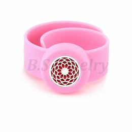 $enCountryForm.capitalKeyWord NZ - lotus 25mm Diffuser locket Kids Mosquito Repellent Bracelet Essential Oil Diffuser Locket Stretchable Silicone Slap Bracelet