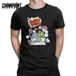 Japanese funny games online shopping - Bubble Bobble T Shirt Men Japanese Video Game Cute Kawaii Gamer Funny Cotton Tees Crewneck Short Sleeve T Shirts Original
