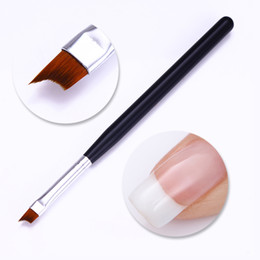 Black french tip nails online shopping - Black Nail Brush French Tip Matte Handle Nail UV Gel Polish Painting Drawing Brush Pen Manicure DIY Nail Art Tool Pc