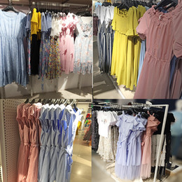 $enCountryForm.capitalKeyWord Australia - Spring and Summer 2019 New Dresses Foreign Trade Korean Edition Fashion Hundred Sets of Broken Flowers Dresses and Floor Shop Wholesale