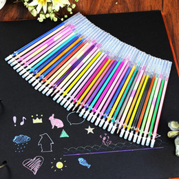 48 gel pens online shopping - 24 Office School Home Decor DIY Fluorescent Gel Colorful Paintings Drawing Pen Party Brushes Refills Watercolor Refills