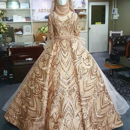 Long sLeeve pink dresses online shopping - Muslim Dubai Middle East Elegant Evening Dresses Long Sleeve Party Gowns With Overskirts Dress Evening Wear robe de soiree Abendkleider