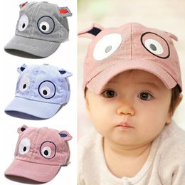 cartoon baseballs Australia - Cartoon Baby Baseball Cap Summer Newborn Baby Hat Girl Boy Caps Children Infant Cotton Children's cap Toddlers Sun Hat Kids Gift