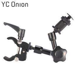 Lcd monitor for dsLr camera online shopping - 7 Inch Adjustable Friction Articulating Magic Arm Small Super Clamp Crab Clip for DSLR LCD Monitor LED Light Camera Accessory