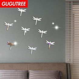 $enCountryForm.capitalKeyWord NZ - Decorate Home 3D dragonfly cartoon mirror art wall sticker decoration Decals mural painting Removable Decor Wallpaper G-337