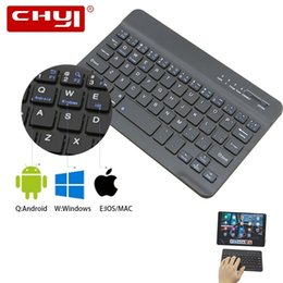 ultra mini pc NZ - CHYI Wireless Bluetooth Keyboard Mini Ultra-slim Keyboard For Tablet Phone PC Built-in Lithium Battery For Android