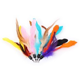 feather wand NZ - Colorful Cat Toy Feather Replacement For Interactive Cat Wand 18cm(without stick)