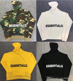 Wholesale women s camo hoodies for sale – custom Fear Of God Camo Hoodie Men Women Cotton Sweatshirts Back Letters Fog ESSENTIALS Oversize Camouflage Hoodies Pullover Hoodies S XL