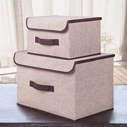 $enCountryForm.capitalKeyWord Australia - 2 pcs set Clothes Suitcase Covered Storage Tank,Non-Woven Underwear Finishing Boxes,Toys Organizer Cosmetics Storage Boxes