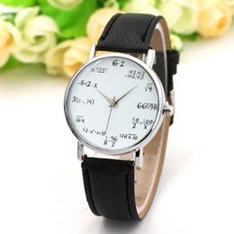 Vogue clocks online shopping - Ladies Watch Fashion Math Function Pattern Leather Band Alloy Quartz Clock Vogue Watches Wrist Watches For Women Reloj Mujer A5