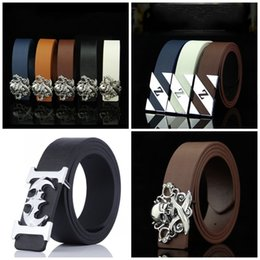 iron belts 2019 - Skull Pattern Men Waist Band Hip Hop Bat Girdle Decoration Iron Button Belt Pants White Black Wear Resistant 5ddd C1 che