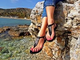 Flat Shoes Sandals For Women Australia - HEFLASHOR Women Sandals 2019 New Summer Shoes Retro Flats Sandals For Women Open Toe Beach Shoes Female Casual Sandalias