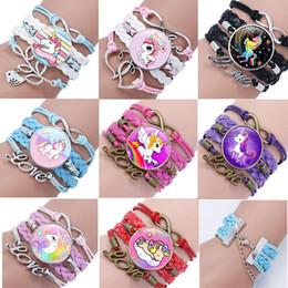 Bird Bracelets online shopping - 8 styles kids Bracelet Jewelry Unicorn Birds Rainbow Leather bracelet kids girl Birthday Time Games Jewelry gift