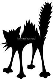 Discount truck windshield decals - wholesale 20pcs lot Shocked Electric Cat Car Sticker For Truck Window Bumper Auto SUV Door Kayak Vinyl Decal 13 Colors 1