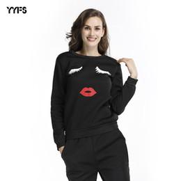 Female lips online shopping - Wear Shirt Women s Long Sleeves Plus Velvet Lips Printing Easy Sweater Large Code Jacket Female T Shirts