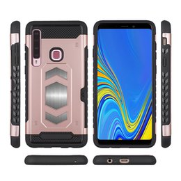 $enCountryForm.capitalKeyWord Australia - Still car armor magnetic mobile phone case can be inserted into the card FOR:SamsungA7 A8 LG Q8 G7 HUAWEI mate10 lite PLUS