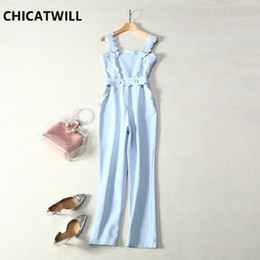 Discount celebrities jumpsuits rompers - CHICATWILL 2019 Summer Celebrity Runway Jumpsuit for Women Sexy Office Lady Rompers Long Pants Bodysuits