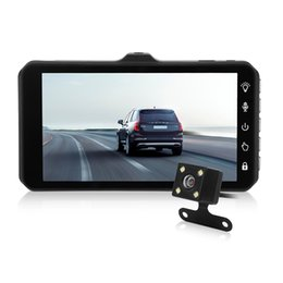China 4 inches car DVR camcorder 2Ch car camera safety driving dashcam IPS touch screen dual lens 170° view angle full HD 1080P G-sensor cheap touch screen car display suppliers