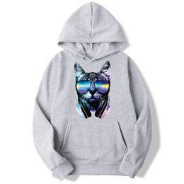 dj stands 2019 - Dj Cat Hip Hop Hoodies Men And Women Autumn Casual Pullover Sweats Hoodie Fashion Sweatshirts Mwt104 cheap dj stands