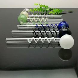 $enCountryForm.capitalKeyWord UK - Pan-silk coloured bubble long bending pot Glass Bongs Glass Smoking Pipe Water Pipes Oil Rig Glass Bowls Oil Burner