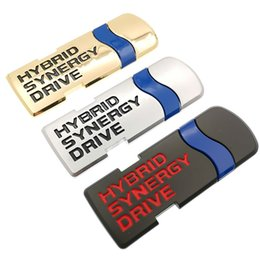 $enCountryForm.capitalKeyWord Australia - New Car Sticker Emblem Auto Badge Decal For Toyota Hybrid Synergy Drive Letter Prius Camry Rav4 Crown Auris Car Styling Accessories