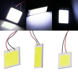 bulb adapters Australia - 10XT10 W5W C5W Festoon BA9S 3 Adapter 24 36 48 Chips COB LED Auto Panel Light Reading Bulb Car Interior Map Dome Lamp Super White