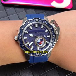 $enCountryForm.capitalKeyWord Australia - New Limited Maxi Marine Diver 3203-500LE-3 93-HAMMER Blue Dial Automatic Mens Watch Silver Case Blue Rubber Strap Sport Gents Watches