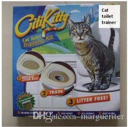Wholesale Pet Toilet Trainer Puppy Cat Toilet Litter Trainer Cat Training kit Drop shipping Retail box