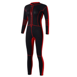 Discount sail clothes Diving Suit 1.5mm Neoprene Women Full Body Snorkeling clothing Wetsuit UV Protection Long Sleeve Swimwear Sailing Swimmi