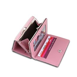 small pocket coin holder UK - Women's Wallet Fashion Colorful Lady Lovely Purse Clutch Women Wallets Short Small Bag Leather Card Hold
