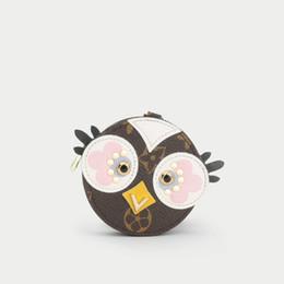 $enCountryForm.capitalKeyWord NZ - Hot sale Keychains Small new love bird pendant old flower brand Key chains bag hanging ornaments creative cute coin bag purse car Keychains