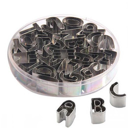 26 Stainless Steel English Alphabet Letters Cookies Molds Tools Set on Sale
