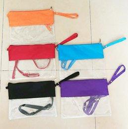Опт Стадион прозрачный кошелек из ПВХ сумка на плечо с монограммой на молнии сумки через плечо с одним поясом 5 цветов дополнительно бесплатная доставка YW1845
