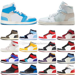 Discount toe sneakers online shopping - Discount New OG Travis Scotts Cactus Jack UNC Mens Basketball shoes s Top Banned Bred Toe Chicago Men Sports Designer Sneakers trainers