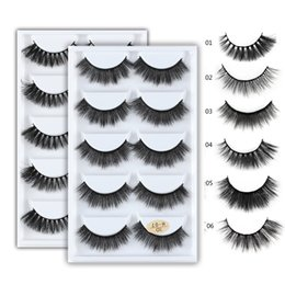 Hair Feathers Tools Australia - 5 Pairs 3D Mink Hair Natural Cross False Eyelashes Long Messy Makeup Fake Eye Lashes Extension Make Up Beauty Tools maquiagem D19011701