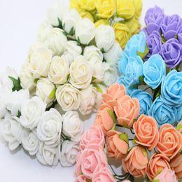 $enCountryForm.capitalKeyWord Australia - lower hair decoration 2CM 144pcs Multicolor PE Rose Foam Mini Artificial Silk Flowers Bouquet Solid Color Wedding Decorative Flowers Wrea...