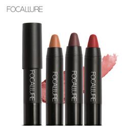 $enCountryForm.capitalKeyWord Australia - Hot FOCALLURE 19 Colors Lipstick Matte Lipsticker Waterproof Long-lasting Easy to Wear Cosmetic Nude Makeup Lips