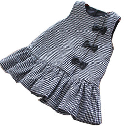 $enCountryForm.capitalKeyWord UK - Girl Christmas Dress Princess Plaid Sleeveless Bow Winter Kids Dresses For Girls Clothes Baby Girl Clothes Party Dress Holiday J190710