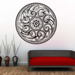 wall stickers yoga Australia - 1 Pcs Indian Mandala Pattern Yoga Vinyl Sticker Removable Art Murals For Bedroom Studio Window Self Adhesive Wallpaper Home Decor