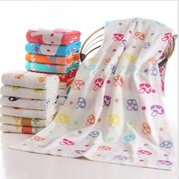 shower robes NZ - Towel Absorbent Cotton Bath Towels Summer Bathroom Quicky-dry Robes Camping Blanket Shower Yoga Sport Outdoor Towel Cartoon Home Towel TL180