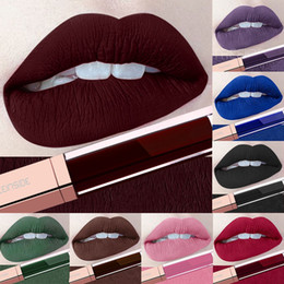 long lasting nude lipstick Australia - 24 Color Make Up Liquid Lipsticks Waterproof Matte Red Lips Makeup Cosmeitc Long Lasting Matte Lip Gloss Brown Blue Nude Lipstick