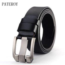 Honest Mens Genuine Leather Belt Russia Belts Waist Luxury Brand Designer Cinta Modeladora Masculina Black Gifts Running High Quality Men's Belts