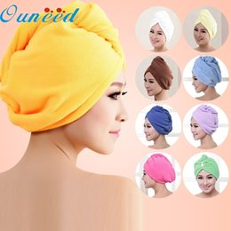 $enCountryForm.capitalKeyWord Australia - Ouneed Top Grand Lady Turban Microfiber Fabric Thickening Dry Hair Hat Super Absorbent Quick-drying Hair Shower Cap Bath Towel D19011201