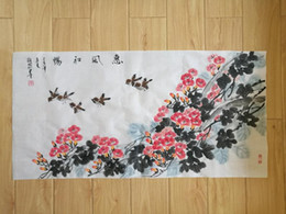 $enCountryForm.capitalKeyWord Australia - Original Chinese painting, Chinese trumpet creeper, Flower Painting, Rice Paper Painting