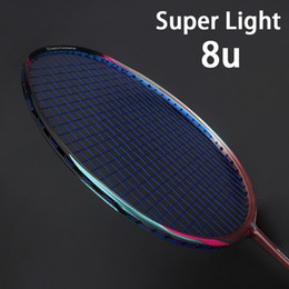 professional lights Australia - 8U Professional Carbon Fiber Badminton Racket Raquette Super Light Weight Multicolor Rackets 22-35lbs Z Speed Force