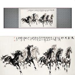 $enCountryForm.capitalKeyWord Australia - Top Quality Chinese Horse Be Painting Horse Art Painting Silk Scroll Art Painting Eight Horse Painting19062803