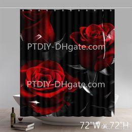 $enCountryForm.capitalKeyWord Canada - Professional DIY Unique Custom Liberty Art Dark Glimpses Color ROSES Expression Waterproof Bathroom Shower Curtains