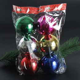 Dhl Christmas Ornament Australia - 6Pcs lot 100mm Christmas Tree Balls Ornaments Shatterproof Balls Xmas Trees Wedding Parties Tree Decorations For Holiday With Muticolor DHL
