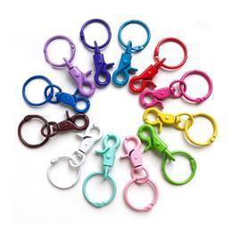 $enCountryForm.capitalKeyWord Australia - Car metal Keychains Lobster Clasps Hooks Key Chain Key Rings for DIY Trinkets Pom Pom Keychain Jewelry