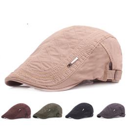 Vintage cowboy hats wholesale online shopping - Autumn Vintage Shaped Beret Men And Women Outdoor Windbreak Hats Pure Color Keep Warm Cap Factory Direct xj I1